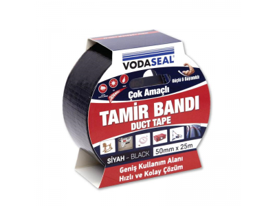 Vodaseal Duct Bandı 50mm*25Mt -Siyah