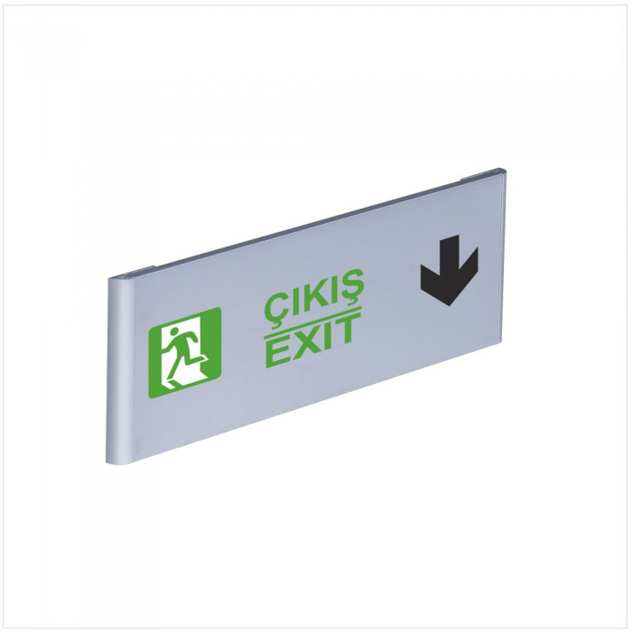 Çıkış Exit Alüminyum Kapı İsimliği Aşağı