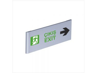 Çıkış Exit Alüminyum Kapı İsimliği Sağ