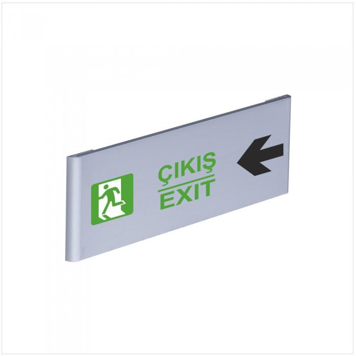 Çıkış Exit Alüminyum Kapı İsimliği Sol